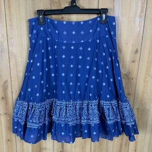 A-Line Ruffled Skirt